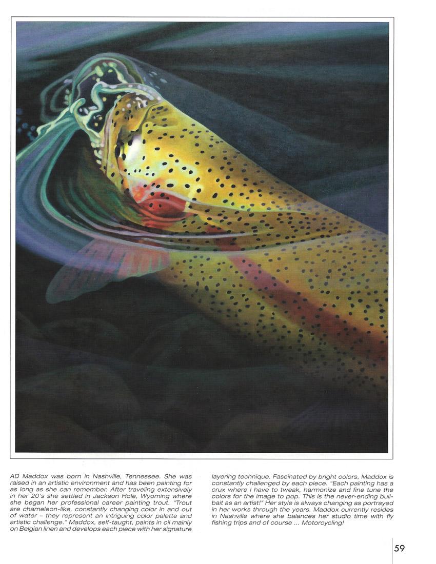 H20 Fly Fishing Art Fly Fishing Prints Ad Maddox